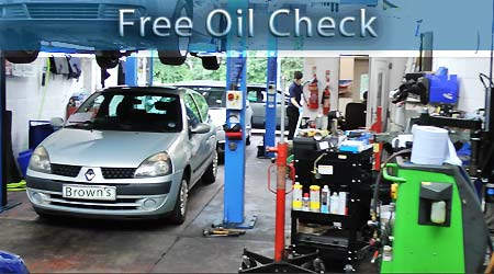 free car oil check in chesterfield